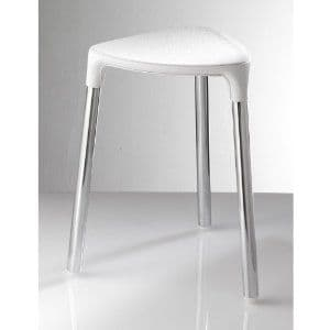 Gedy Yannis Stool White Faux/Chrome 2172-E2