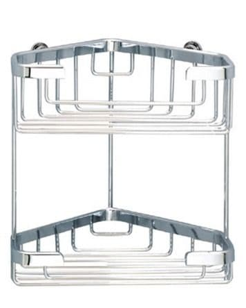 Sonia Double Corner Basket Chrome 060795