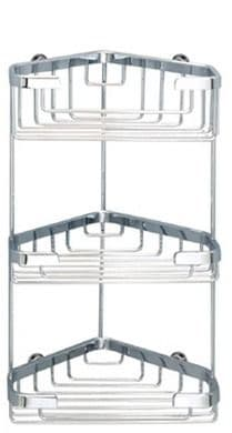 Sonia Triple Corner Basket Chrome 055012