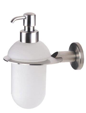 Urban Steel Frosted Glass Soap Dispenser Brushed Steel - PZ01D