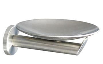 Urban Steel Metal Soap Dish Brushed- CC01