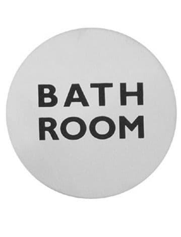 Urban Steel Sign Bathroom Brushed 7122