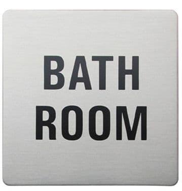 Urban Steel Sign Bathroom Square Brushed 8966