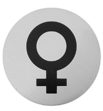 Urban Steel Sign Female Symbol Brushed 7013