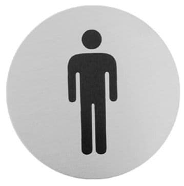 Urban Steel Sign Male Brushed 7038