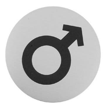 Urban Steel Sign Male Symbol Brushed 7014