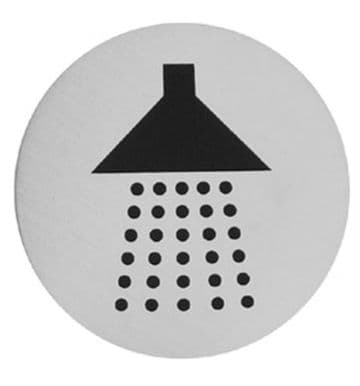 Urban Steel Sign Shower Brushed 7015