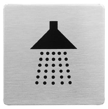 Urban Steel Sign Shower Square Brushed 8940