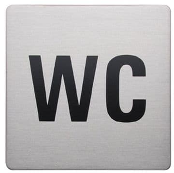 Urban Steel Sign WC Square Brushed 8930