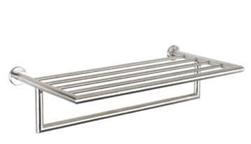 Urban Steel Towel Rack Brushed Steel - PZ40