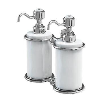 Burlington Double Soap Dispenser Chrome A20 CHR