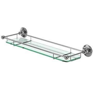 Burlington Shelf with Railing 550mm Chrome A18 CHR