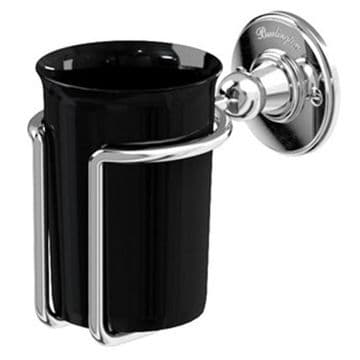 Burlington Tumbler Holder Chrome with Black A2 CHR BLA