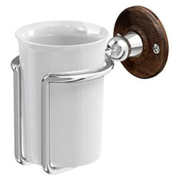 Burlington Tumbler Holder Chrome with Walnut backplate A2 CHR WAL