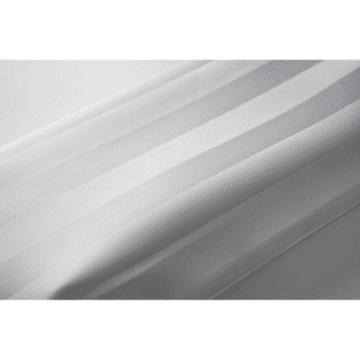 EuroShowers SatinStripe White 180x200cm Shower Curtain 69112AD