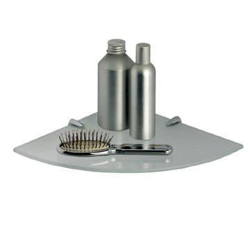 Gedy Artemis Corner Semi-Frosted Glass Shelf Chrome 2119/24-00