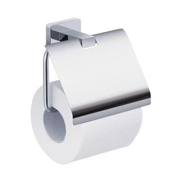 Gedy Atena Toilet Roll Holder With Flap Chrome 4425-13