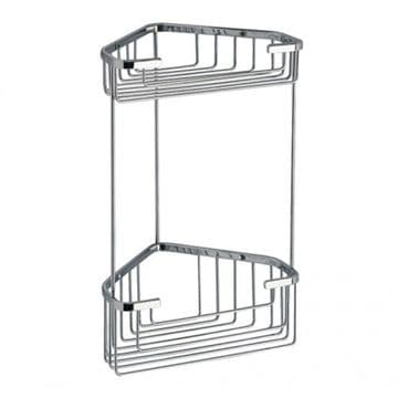 Gedy Double Corner Basket Chrome 2481-13