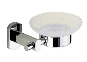 Gedy Edera Frosted Glass Soap Dish Chrome EP11-13