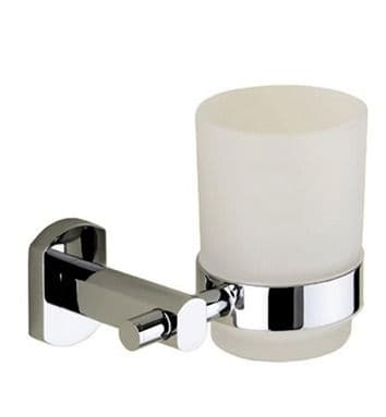 Gedy Edera Frosted Glass Tumbler Holder Chrome EP10-13