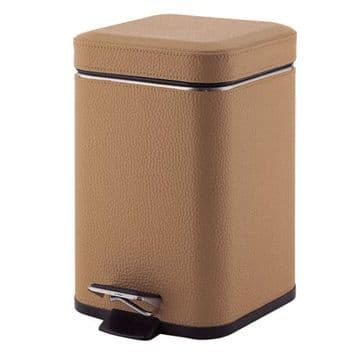 Gedy Pedal Bin Soft Close 3L Hazelnut Faux 2209-36