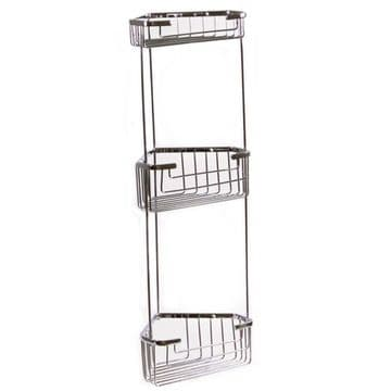 Gedy Triple Corner Basket Chrome 2484-13