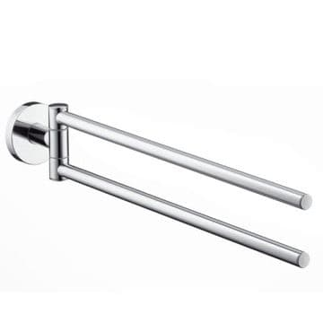 Hansgrohe Logis Chrome Double towel holder 40512000