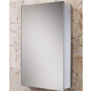 HiB Callisto Slim Line Aluminium Mirrored Cabinet 50x70 44100