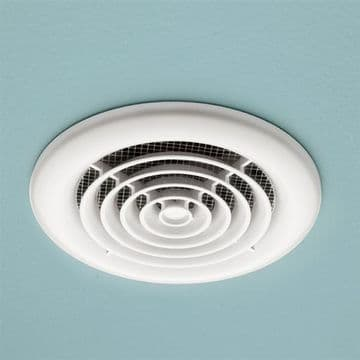 HiB Cyclone Slim Flush Mounted White Fan - 33300