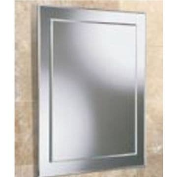 HiB Emma Rectangular Bevelled Mirror On Mirror 50x40 63504000