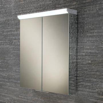 HiB Flare Double Door Cabinet With LED Illumination And Shaver Socket 60x70 44900