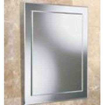 HiB Olivia Rectangular Bevelled Mirror On Mirror 60x40 63604000