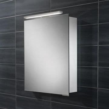 HiB Proton LED Mirror Single Door Aluminium Cabinet 50x70 44800