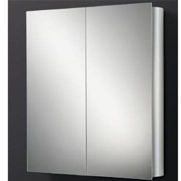 HiB Quantum Double Door Aluminium Mirrored Cabinet 60x70 42500