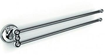 IBB British Swivel Double Towel Rail Satin Silver BI05ARS/ARS