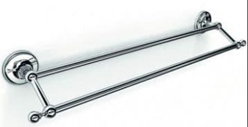 IBB British Twin Towel Rail Satin Silver BI04ARS/ARS