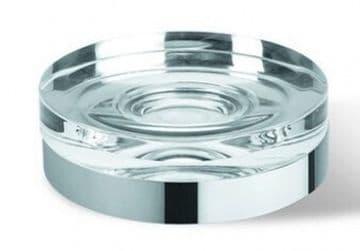 IBB Lapiana Freestanding Glass Soap Dish Satin Chrome LN21CACC/ACC