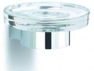 IBB Lapiana Glass Soap Dish Satin Chrome LN01CACC/ACC