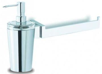 IBB Lapiana Towel Rail + Soap Dispencer, Glass -LN91CCRO/CRO