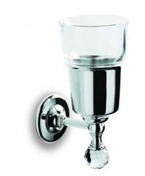 IBB Madras Oriente Crystal Glass Holder Black Chrome MA02CNNL/SWN