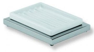 IBB Xoni Freestanding Soap Dish Matt White And White Resin XO21BIO/BIO