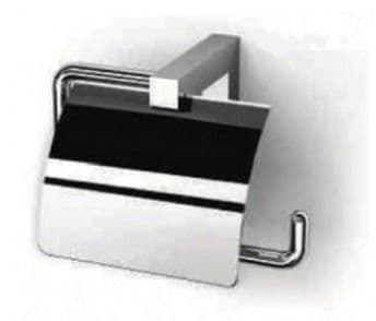IBB Xoni Toilet Roll Holder With Cover Chrome And White Resin XO11CCRO/CRO