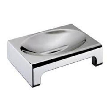 Sonia Nakar Metal Soap Dish Freestanding Chrome 123919