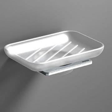 Sonia S-Cube Soap Dish Chrome 166886