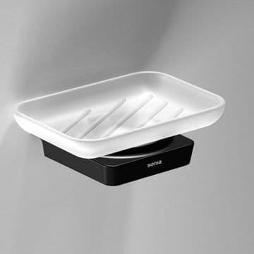 Sonia S6 Soap Dish Black 166459