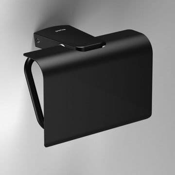 Sonia S6 Toilet Roll Holder With Flap Black 166473