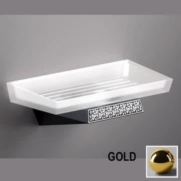Sonia S8 Swarovski Soap Dish Gold 165025