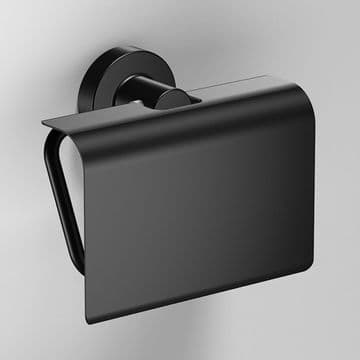 Sonia Tecno Project Black Toilet Roll Holder with Flap 166282
