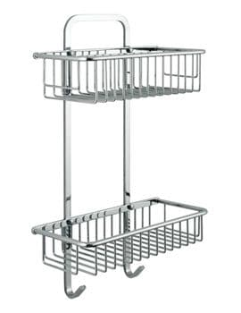 Vado Large Double Rectangular Basket - BAS-2003-C/P