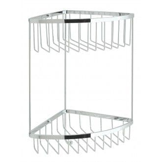 Vado Large Double Triangular Corner Basket - BAS-2004-C/P